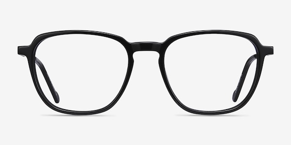 The Fan Black Acetate-metal Eyeglass Frames