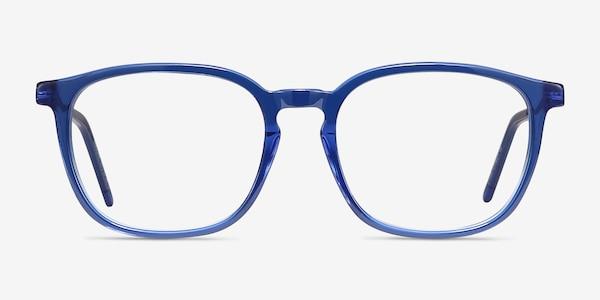 Esquire Blue Acetate-metal Eyeglass Frames