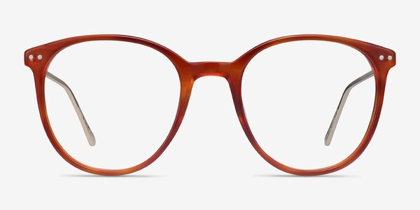 Oriana Orange Acetate-metal Eyeglass Frames