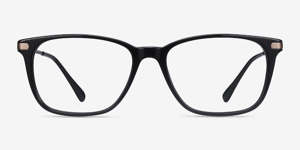 Plaza Black Acetate-metal Eyeglass Frames