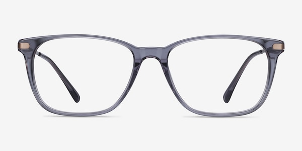 Plaza Gray Acetate-metal Eyeglass Frames