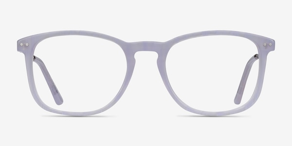 Ratio Purple Striped Acetate-metal Eyeglass Frames