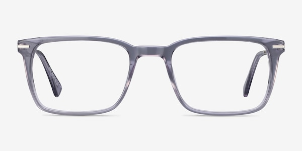 Nox Gray Acetate-metal Eyeglass Frames