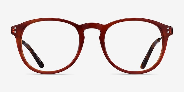 Akio Orange Acetate-metal Eyeglass Frames