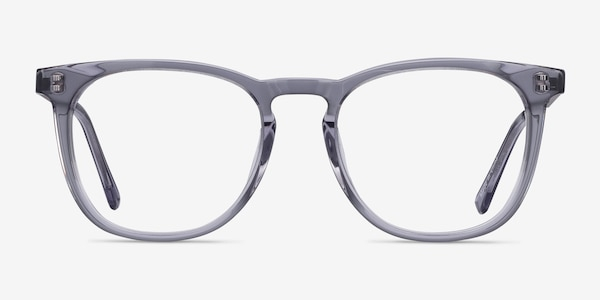 Vibes Clear Gray Acetate-metal Eyeglass Frames