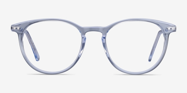 Snap Clear Blue Acetate-metal Eyeglass Frames