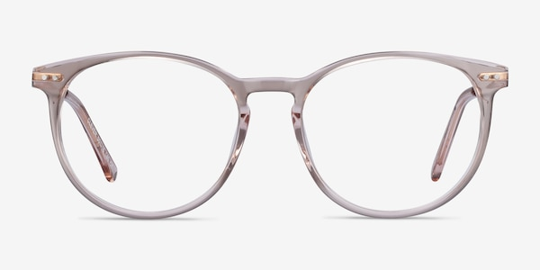 Clever Pink Acetate-metal Eyeglass Frames