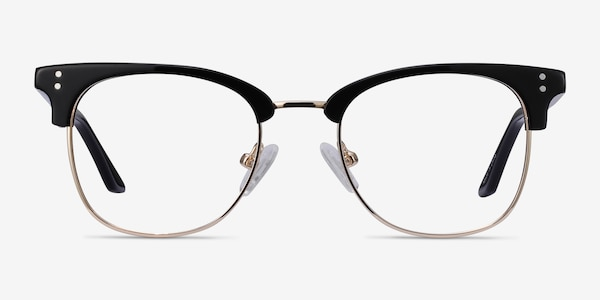 Freestyle Black Acetate-metal Eyeglass Frames