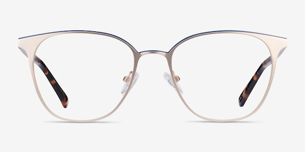 Azimut Gold Acetate-metal Eyeglass Frames