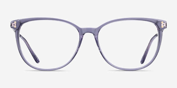 Nebulous Clear Purple Acetate-metal Montures de Lunette de vue