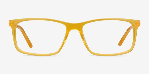 Marvel Yellow Acetate-metal Eyeglass Frames