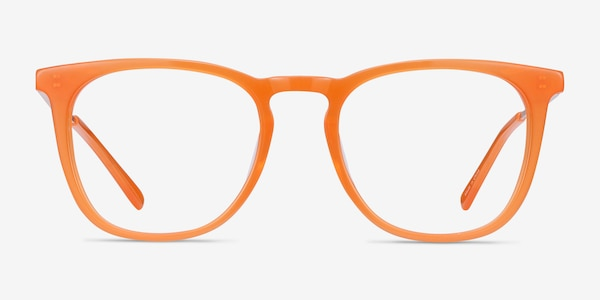Vinyl Orange Acetate-metal Eyeglass Frames