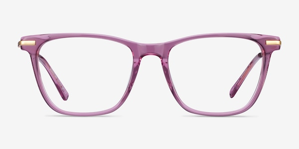 Sebastian Purple Acetate-metal Eyeglass Frames