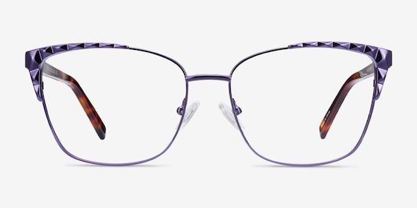 Signora Purple Acetate-metal Eyeglass Frames