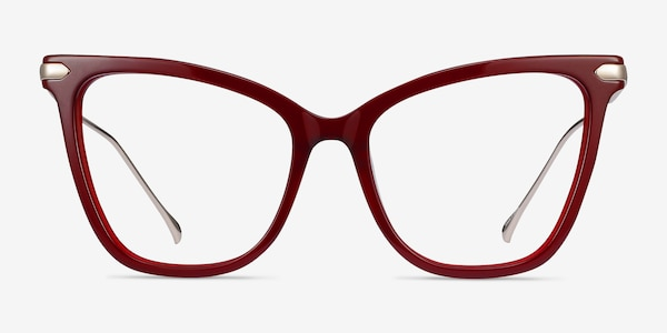 Domy Burgundy Acetate-metal Eyeglass Frames