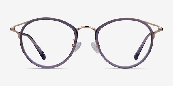 Dazzle Purple Acetate-metal Eyeglass Frames
