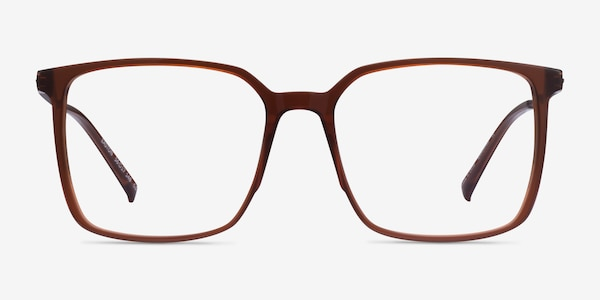Easton Clear Brown Acetate-metal Eyeglass Frames