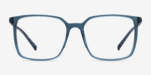Easton Clear Blue Acetate-metal Eyeglass Frames