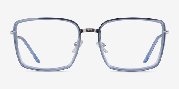 Remi Blue Silver Acetate Eyeglass Frames