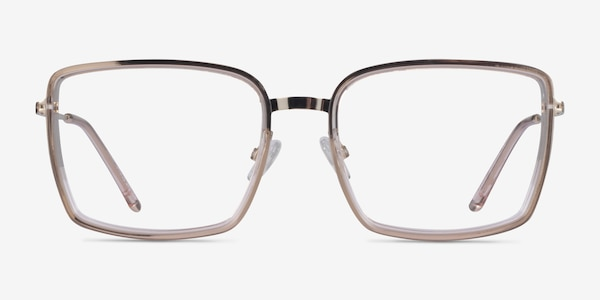 Remi Champagne Gold Acetate Eyeglass Frames