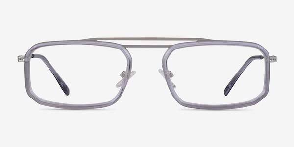 Watson Clear Gray  Silver Acétate Montures de Lunette de vue