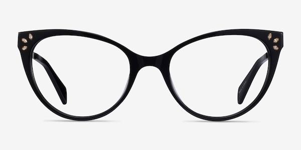 Beauty Black Acetate-metal Eyeglass Frames