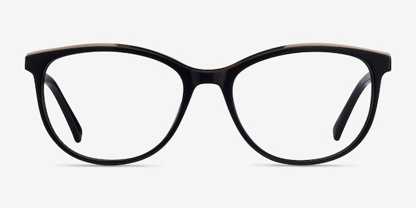 Glam Black Acetate-metal Eyeglass Frames