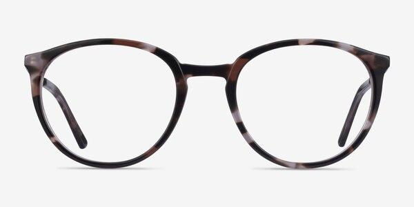 Mindful Ivory Tortoise Silver Acetate Eyeglass Frames