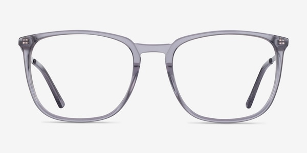 Domenico Clear Gray  Silver Acetate Eyeglass Frames
