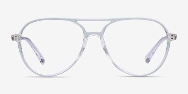 Picture Clear & Silver Plastic-metal Eyeglass Frames