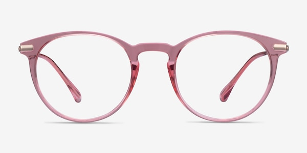 Particle Clear Pink & Rose Gold Plastic-metal Eyeglass Frames