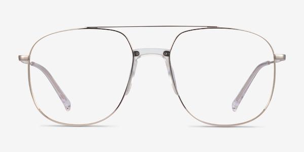 Subject Gold & Clear Acetate-metal Eyeglass Frames