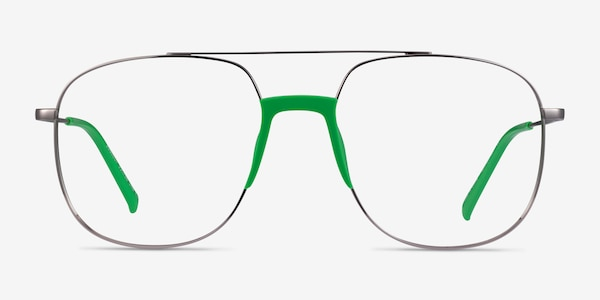 Subject Gunmetal & Green Acetate-metal Montures de Lunette de vue