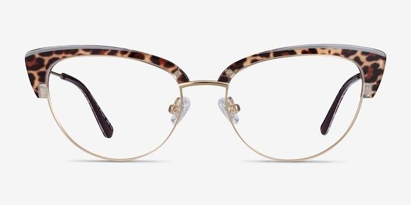 Essential Leopard & Gold Acetate-metal Eyeglass Frames