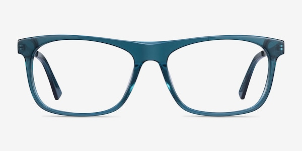 Drop Green  Silver Acetate Eyeglass Frames