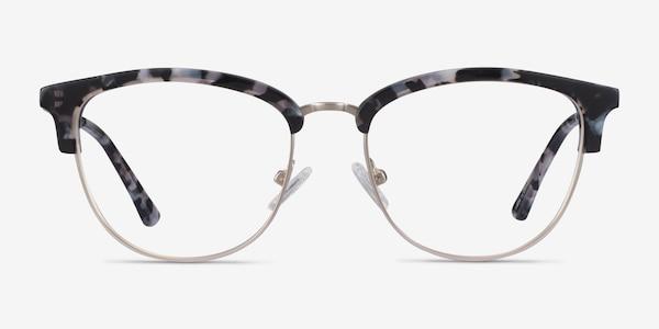Sophisticated Ivory Tortoise & Silver Acetate-metal Eyeglass Frames