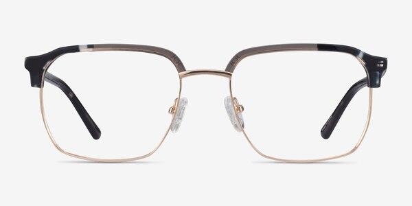 Break Gray Striped & Gold Acetate-metal Eyeglass Frames
