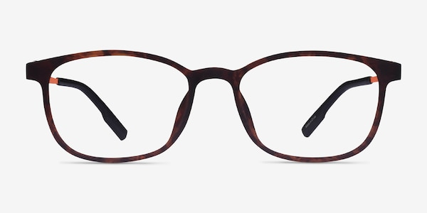 Idea Matte Tortoise Orange Plastic Eyeglass Frames