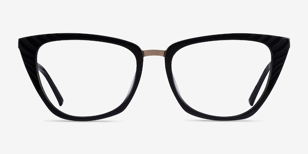 Trenta Black Gold Acetate Eyeglass Frames