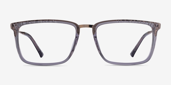 Volume Clear Gray Acetate Eyeglass Frames