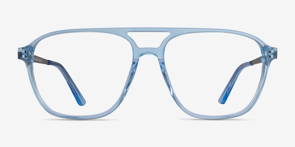 Metropolis Clear Blue Acetate Eyeglass Frames