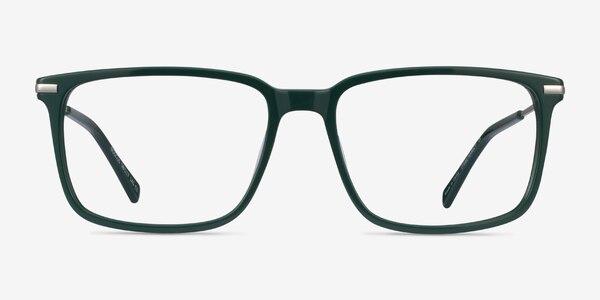 Boscus Green Silver Acetate Eyeglass Frames