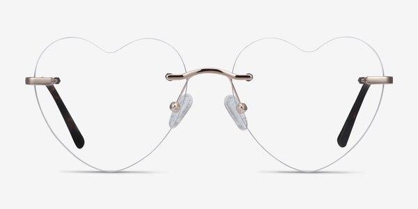 Amore Gold Metal Eyeglass Frames