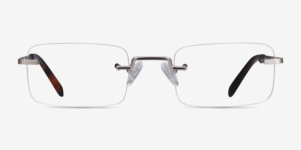 Simplicity Silver Metal Eyeglass Frames