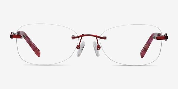 Scene Red Metal Eyeglass Frames