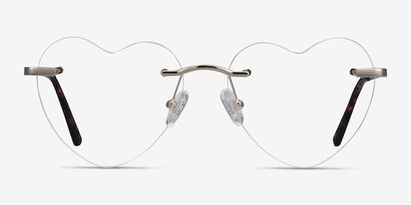 Amore Silver Metal Eyeglass Frames