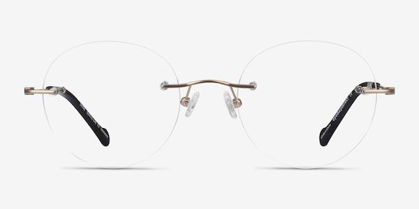 Shine Gold Titanium Eyeglass Frames