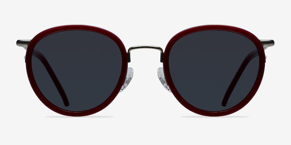 Siena Red Acetate-metal Sunglass Frames