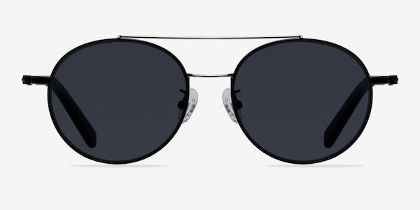 Hendrix Black/Silver Metal Sunglass Frames