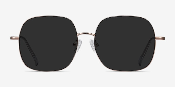 Sun Movement Rose Gold Metal Sunglass Frames